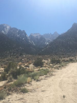 The view on Whitney Portal road towards the top